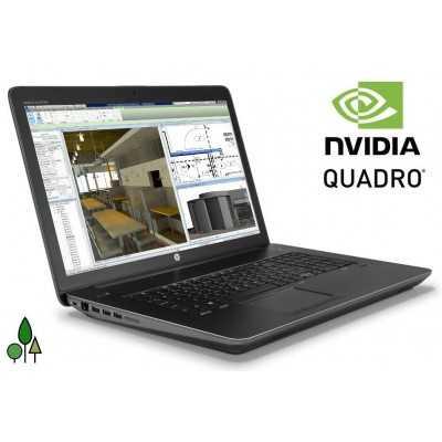 HP Zbook 17 G3 WorkStation Intel Core i7 6820HQ Quad Core 16GB 512GB 17,3 IPS FHD Windows 10 Gamer Quadro M3000M 4GB HP - 1